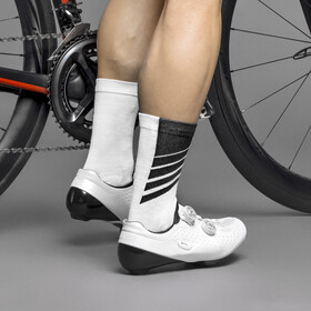 GripGrab Racing Stripes Chaussettes, white/black